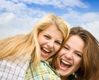 Happy girls Royalty Free Stock Photos