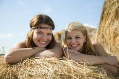 Happy girls Royalty Free Stock Photo