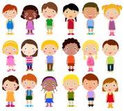 Happy girls and boys Stock Photo