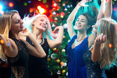 Happy girls fun dansing Stock Photography