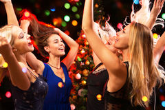 Happy girls fun dansing Stock Image
