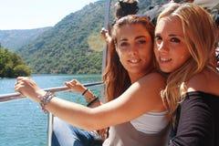 Happy girls. Stock Images