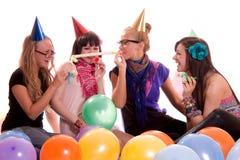 Happy girls having fun Stock Images