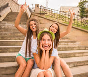 Happy Girls Stock Photo