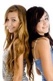 Happy girls looking at camera Royalty Free Stock Photography