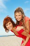 Happy girls outdoors Stock Photos
