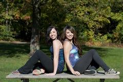 Happy Girls Posing Royalty Free Stock Photography