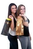 Happy Girls Shopping Stock Image