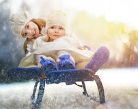 Happy girls Royalty Free Stock Images