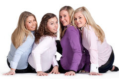 Happy girly group Royalty Free Stock Photography