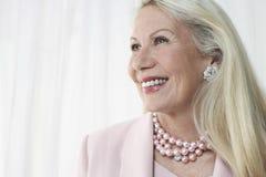 Happy And Glamorous Senior Woman Stock Images