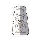 Happy gloom with suit icon. Illustration design Royalty Free Stock Photos