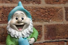 Happy gnome Royalty Free Stock Image
