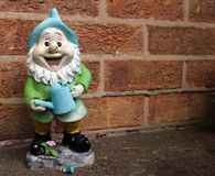Happy gnome Royalty Free Stock Photo