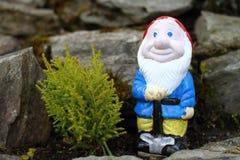 Happy gnome Stock Photo