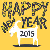 Happy goat,chinese new year 2015 Stock Photography