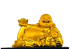 Happy Gold Buddha Royalty Free Stock Photography