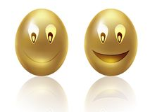 Happy golden eggs Royalty Free Stock Photos