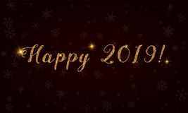 Happy 2019!. Royalty Free Stock Image