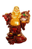 Happy Golden Laughing Buddha figurine Stock Photography