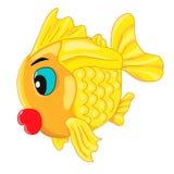 Happy goldfish cartoon character Stock Photography