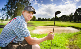 Happy Golf Player Stock Photography