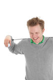 Happy golfer Stock Photo