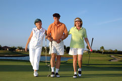 Happy Golfers Royalty Free Stock Image
