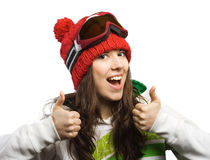 Happy and good skier. Stock Image