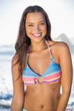 Happy gorgeous woman in bikini posing Royalty Free Stock Photo