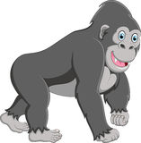 Happy gorilla cartoon Royalty Free Stock Photography
