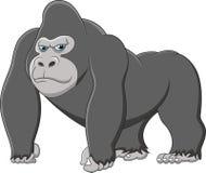 Happy gorilla cartoon Stock Images