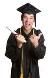 Happy Grad stock image