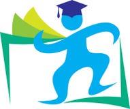 Happy graduate. Illustration of happy graduate design isolated on white background Royalty Free Stock Image