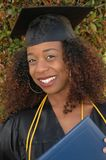 Happy graduate. Happy female graduate Stock Images