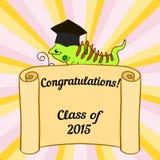 Happy graduate in cap graduation celebration Stock Images