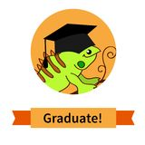 Happy graduate in cap graduation celebration Royalty Free Stock Photography