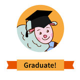 Happy graduate in cap graduation celebration Royalty Free Stock Photo