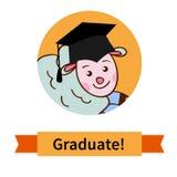 Happy graduate in cap graduation celebration Royalty Free Stock Photo