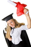 Happy Graduate with Certificate Royalty Free Stock Images