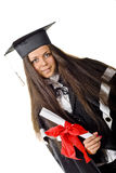 Happy Graduate with Certificate Stock Image