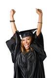 Happy Graduate Cheering royalty free stock image