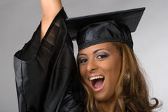 Happy Graduate Cheering Royalty Free Stock Photography