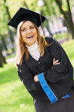 Happy graduate girl Royalty Free Stock Image