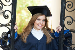Happy graduate girl Royalty Free Stock Photos