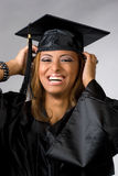 Happy Graduate Laughing Royalty Free Stock Photography