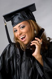 Happy Graduate Partying Stock Photography