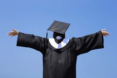 Happy graduate student girl Stock Image