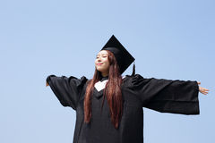 Happy graduate student girl Royalty Free Stock Photography