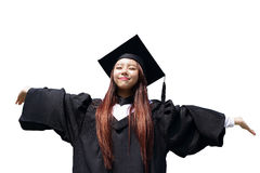 Happy graduate student girl Stock Photography